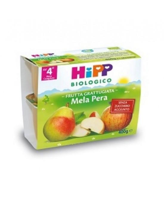 HiPP Biologico Frutta Grattugiata Mela Pera 4x100g - Farmajoy