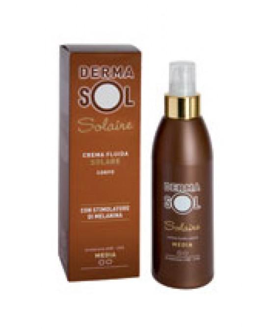 Dermasol Solaire Crema Solare Corpo Con Stimolatore di Melanina Protezione Media 125 ml
