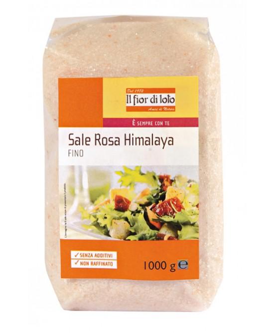 Il Fior Di Loto Sale Rosa Himalaya Fine Biologico 1000g - La farmacia digitale