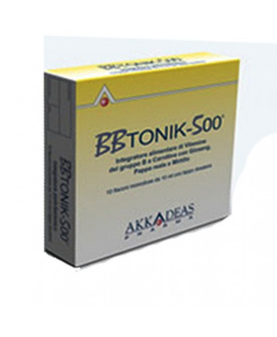 BB Tonik 500 Integratore 10 Flaconcini da 10 ml