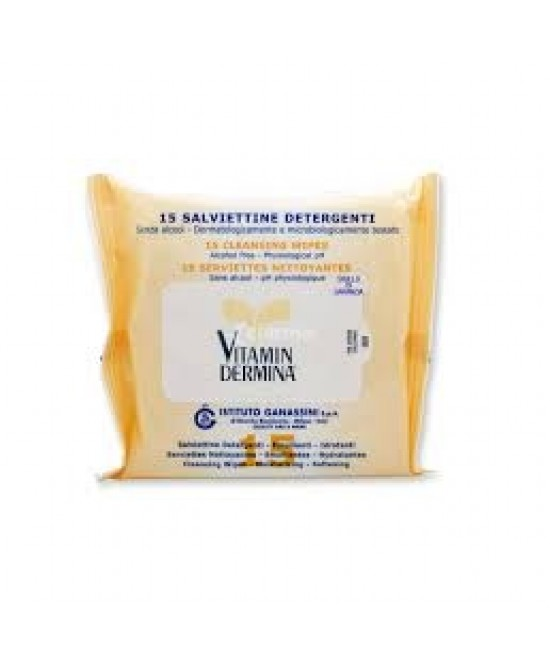 VitaminDermina Salviette Detergenti Delicate 15 Salviettine - Farmafamily.it