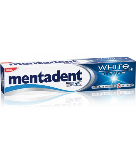 Mentadent Dentifricio White System 75ml - Zfarmacia