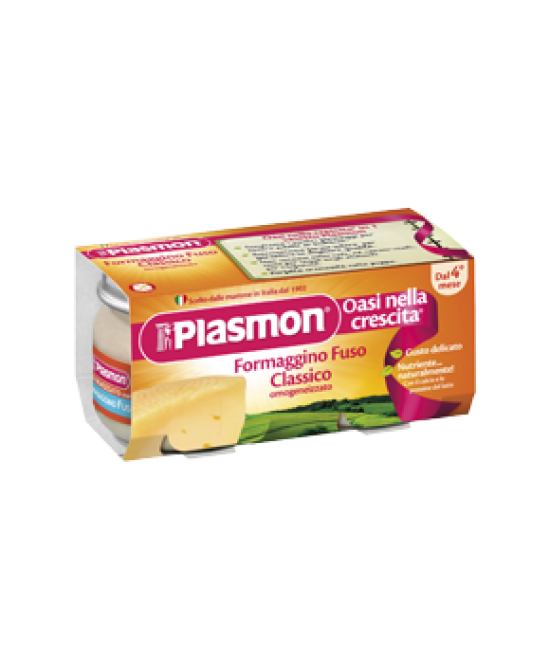 Plasmon Omogeneizzato Formaggino Fuso Classico 80gx2 Pezzi - Farmia.it