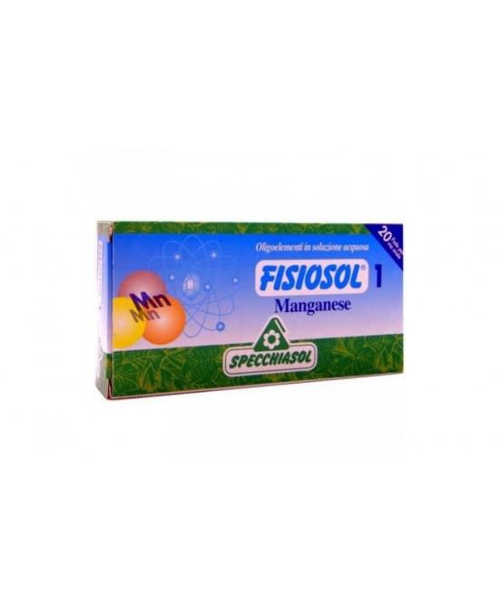 Specchiasol Fisiosol 1 Manganese Integratore Alimentare 20 Fiale x2ml - FARMAPRIME