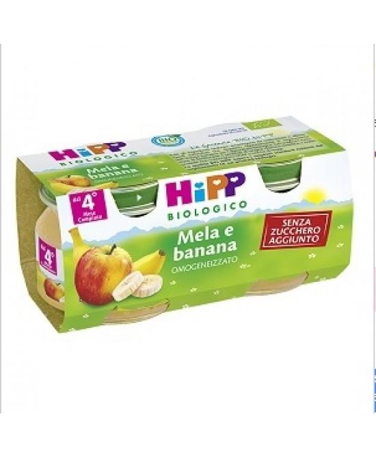 HiPP Biologico Omogeneizzato Mela E Banana 2x80g - Farmajoy