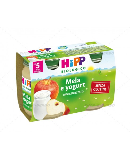 HiPP Biologico Merenda Mela E Yogurt  2x125g - Farmabros.it
