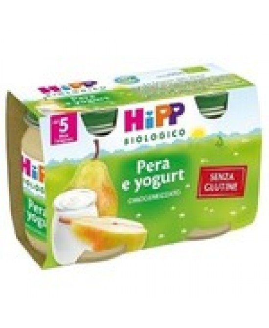 HiPP Biologico Omogeneizzato Pera E Yogurt 2x125g - Farmabros.it