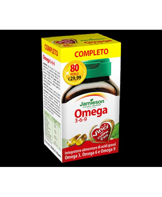Jamieson Omega 3-6-9 Integratore Alimentare 80 Perle - Spacefarma.it