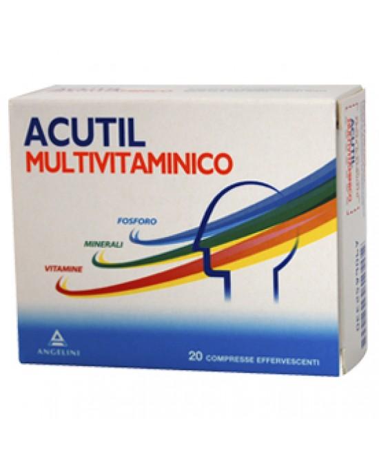Image of Acutil Multivitaminico Integratore Alimentare 20 Compresse Effervescenti