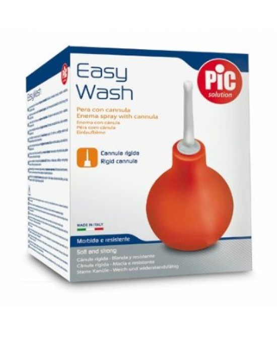 Pic Easy Wash Pera 12 Con Cannula Rigida - La farmacia digitale