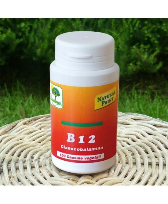 Natural Point B12 Cianocobalamina Integratore 100 Capsule Vegetali