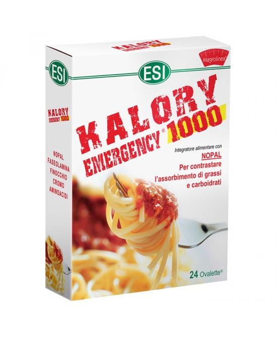 Esi Kalory Emergency 1000 Integratore Abbatti Calorie 24 Ovalette - latuafarmaciaonline.it