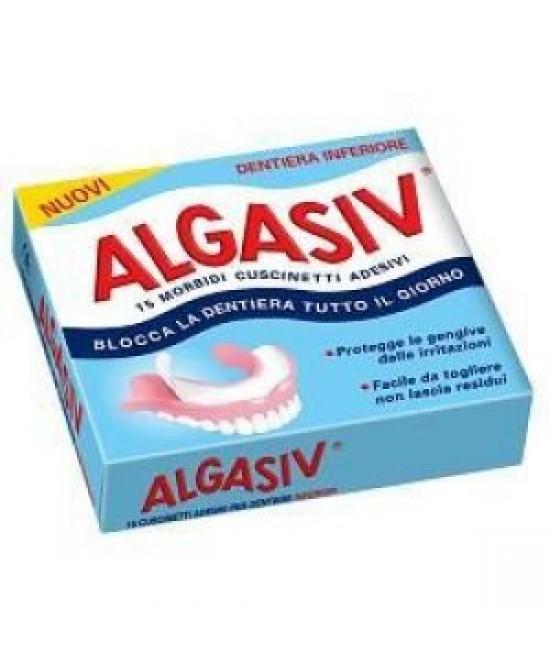 Algasiv Adesivo Protesi Inferiore 15 Pezzi - Farmafamily.it
