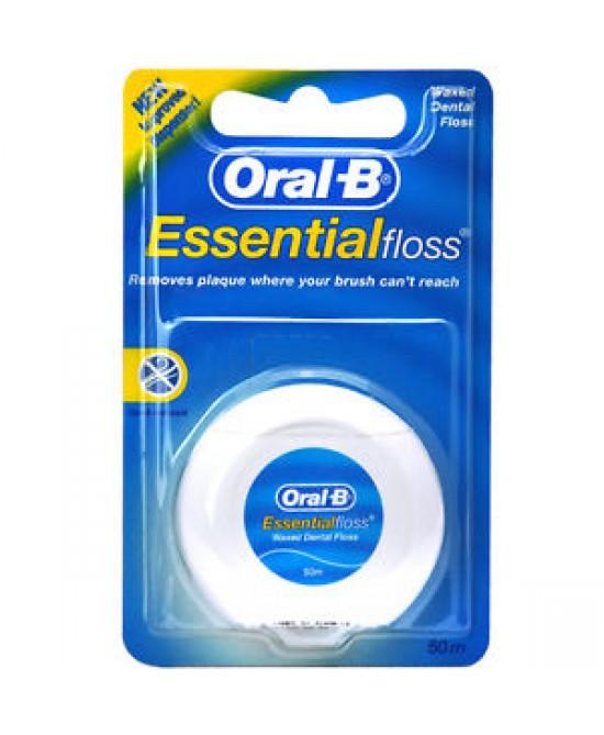 Oral-B Essential Floss Filo Interdentale Cerato 50 Metri - Farmalilla