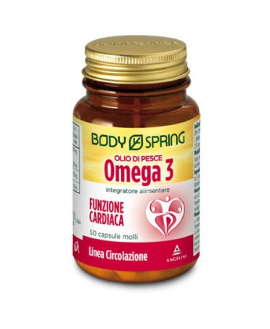 Body Spring Olio Di Pesce Omega3 Funzione Cardiaca Integratore Alimentare 50 Capsule - Farmafamily.it