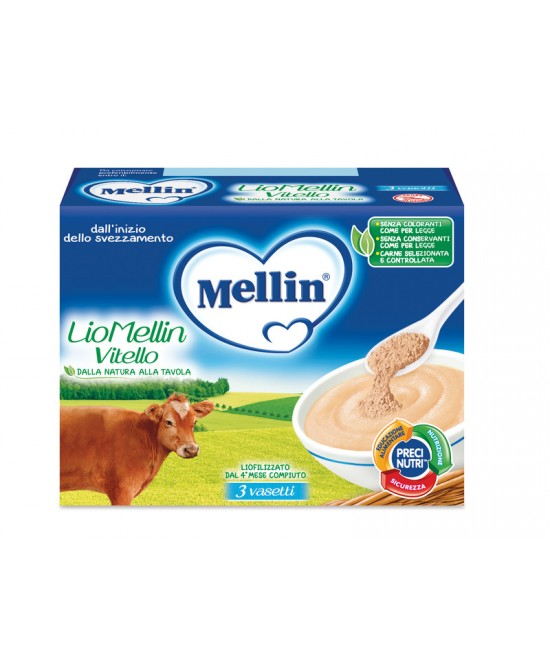 Mellin Liofilizzati LioMellin Vitello 3x10g - Farmapc.it