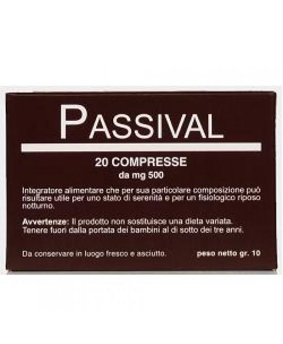 Passival Integratore Rilassante 20 Compresse