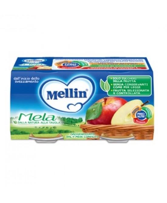 Mellin Omogenizzati  di Frutta Mela 2 x 100 g - Farmalilla