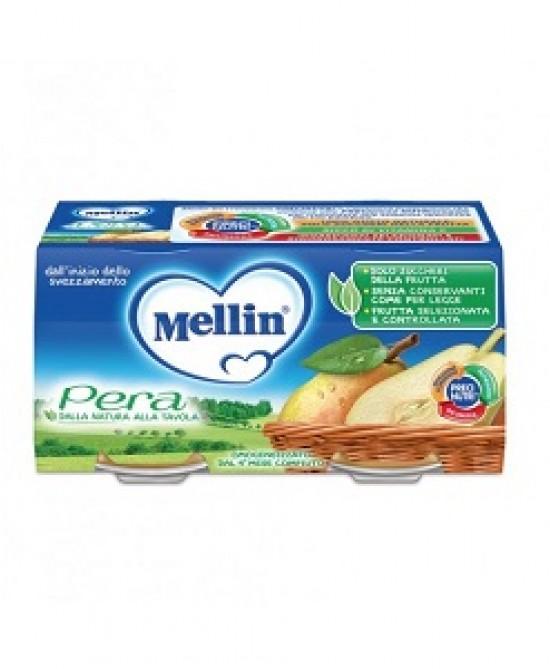 Mellin Omogeneizzati di Frutta Pera 2 x 100 g - Farmalilla