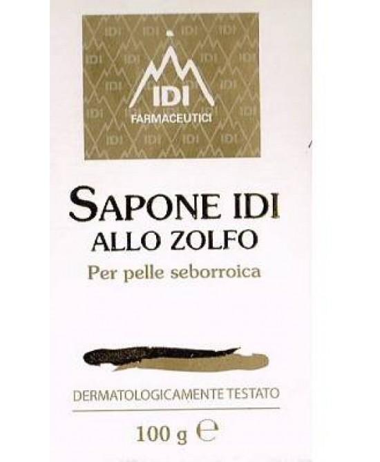Idi Sapone Zolfo Pelle Grassa Detergente 100 Gr