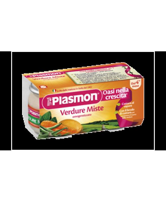 Plasmon Omogeneizzato Verdure Miste 2x80g - La farmacia digitale