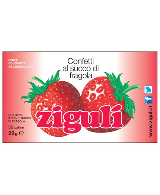 Ziguli Fragola 36 Palline 22g - Farmajoy