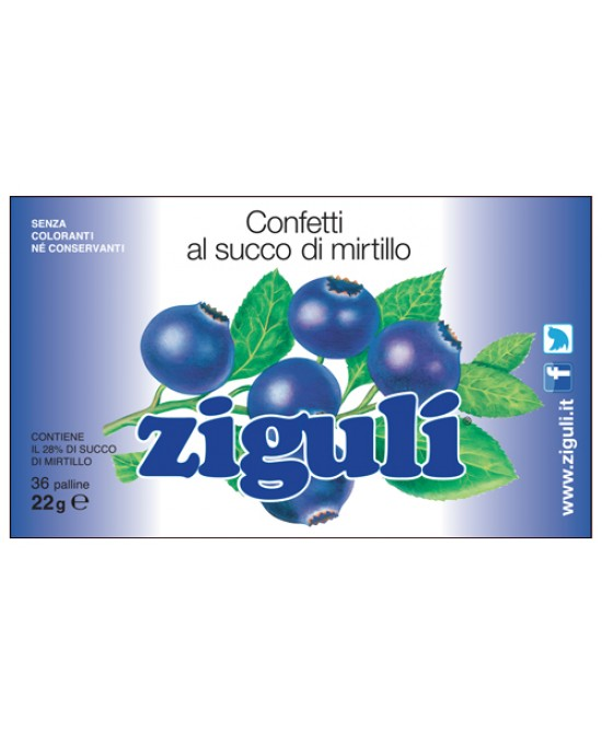 Zigulì Mirtillo 36 Pallline 22g - Farmawing