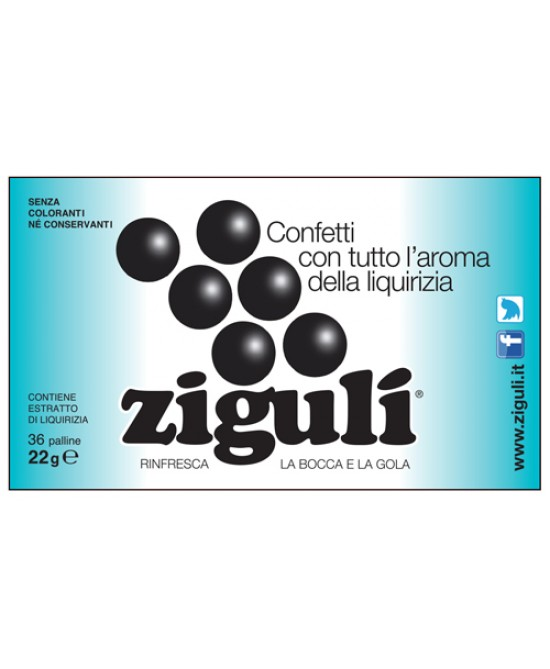 Ziguli Liquirizia 36 Paalline 22g - Farmawing