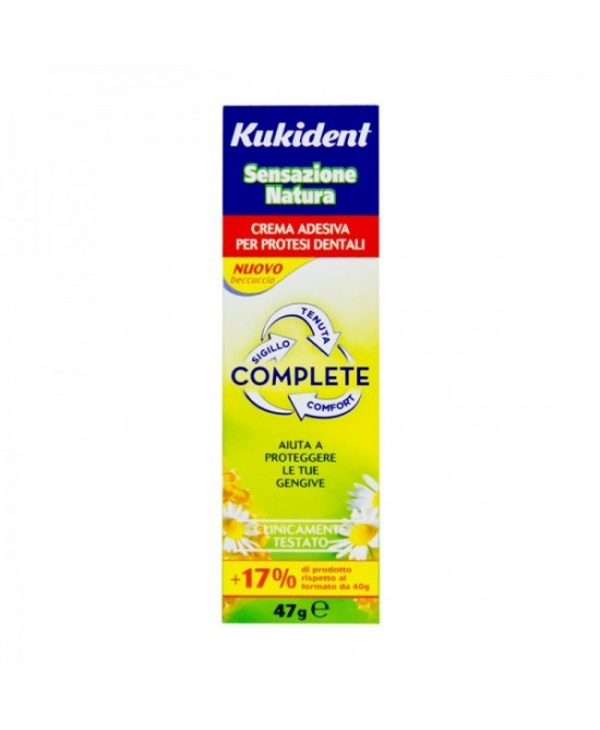 Kukident Fresh Complete Crema Adesiva Per Protesi Dentali 40g - Farmacia 33