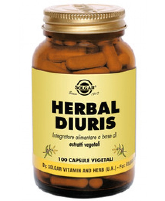 Solgar Herbal Diuris 100 Capsule Vegetali - Farmaci.me