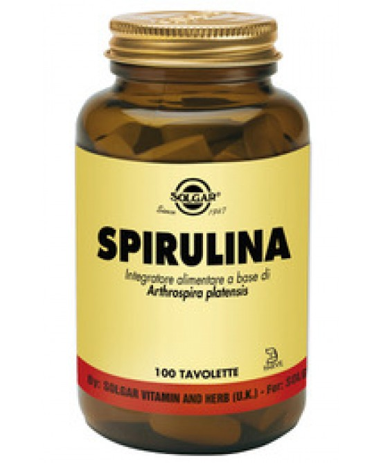 Solgar Spirulina 750 mg 100 Tavolette - Farmaconvenienza.it