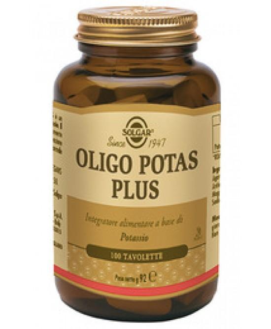 Solgar Oligo Potas Plus 100 Tavolette - Antica Farmacia Del Lago