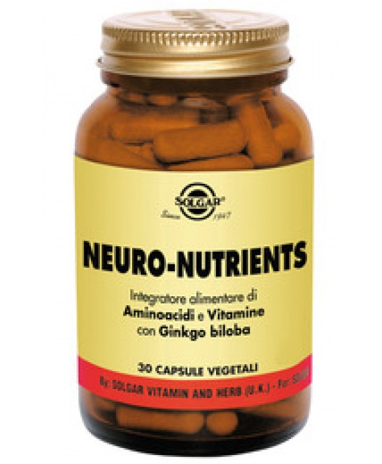 Solgar Neuro-Nutrients 30 Capsule Vegetali - Farmaci.me
