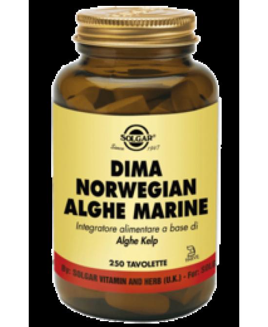Solgar Dima Norwegian Alghe Marine 250 Tavolette - Farmafamily.it