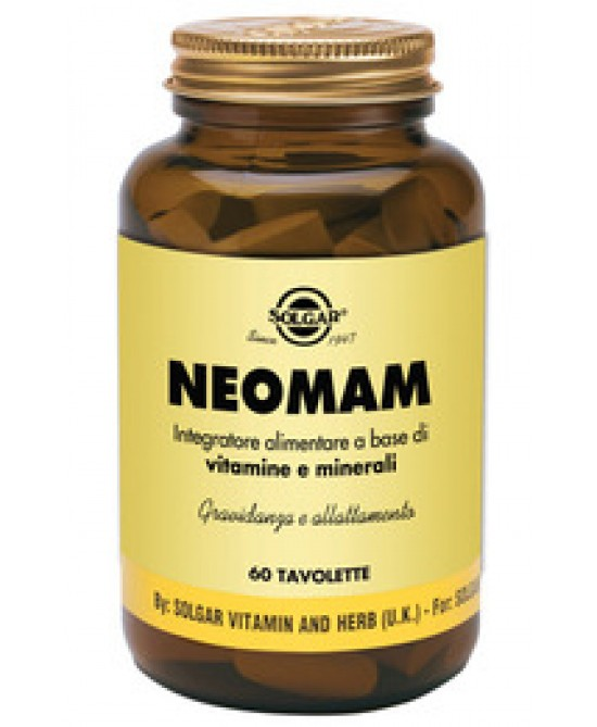 Solgar Neomam 60 Tavolette - Antica Farmacia Del Lago