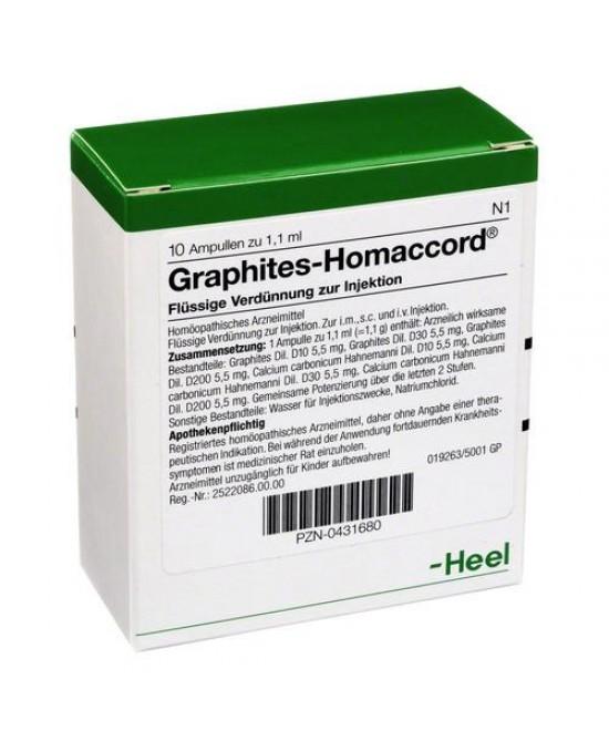 HEEL GRAPHITES HOMACCORD 10 FIALE DA 1,1 ML L'UNA - Farmaci.me