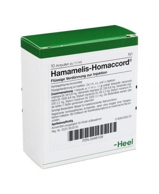 HAMAMELIS HOMAC 10F 1,1ML HEEL prezzi bassi
