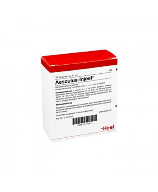 HEEL AESCULUS INJEEL 10 FIALE DA 1,1 ML L'UNA - Farmaciacarpediem.it