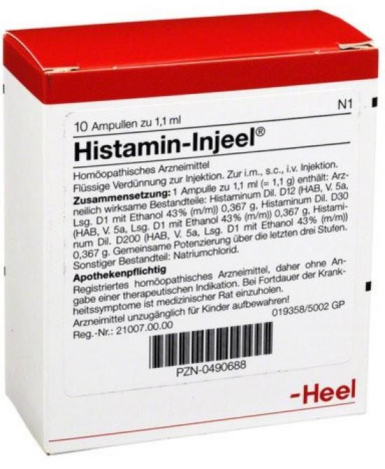 Heel Histamin-Injeel 10 Fiale Da 1,1ml - latuafarmaciaonline.it
