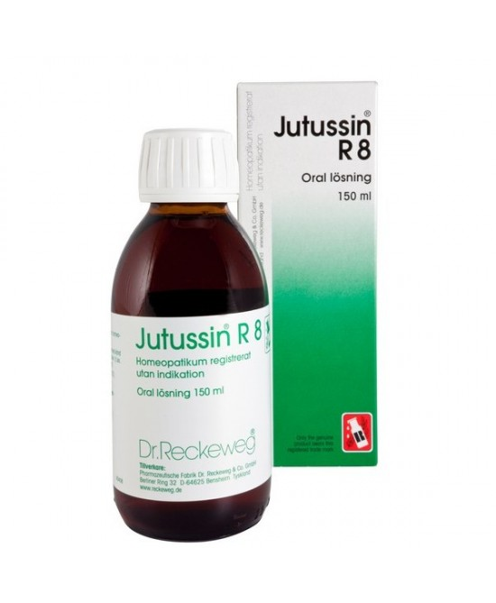 Dr.Reckeweg Jutussin R8 Sciroppo 150ml scad 01/20 - Farmacento