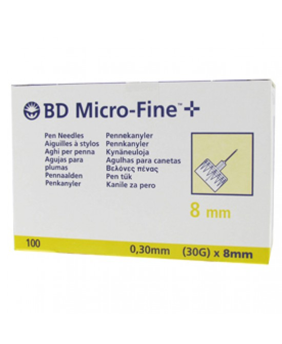 Becton Dickinson Ago Bd Microfine G30 8mm 100 Pezzi - Farmacia Giotti