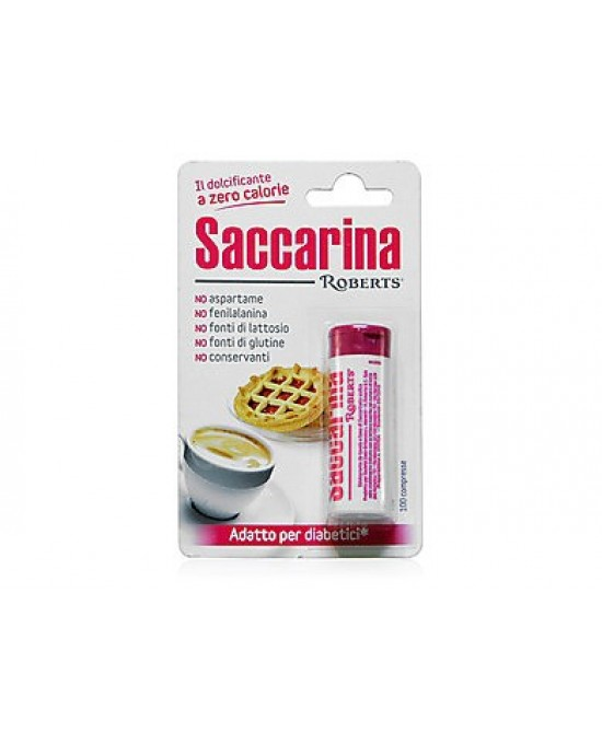 Saccarina Roberts 100 Compresse 3 Tubi - Farmacistaclick