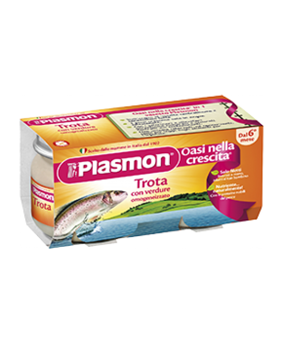 Plasmon Omogeneizzato Di Pesce Trota Con Verdure 2x80g - Farmia.it