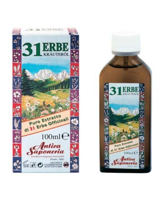 Antica Saponeria Olio 31 Erbe Bottiglia In Vetro 100ml - FARMAPRIME