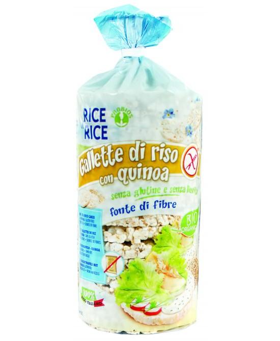 Rice&Rice Gallette Riso Con Quinoa Biologico Senza Glutine 100 g