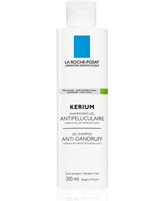 La Roche-Posay Kerium Shampoo-Gel Anti-Forfora Cute Grassa 200ml - FARMAPRIME