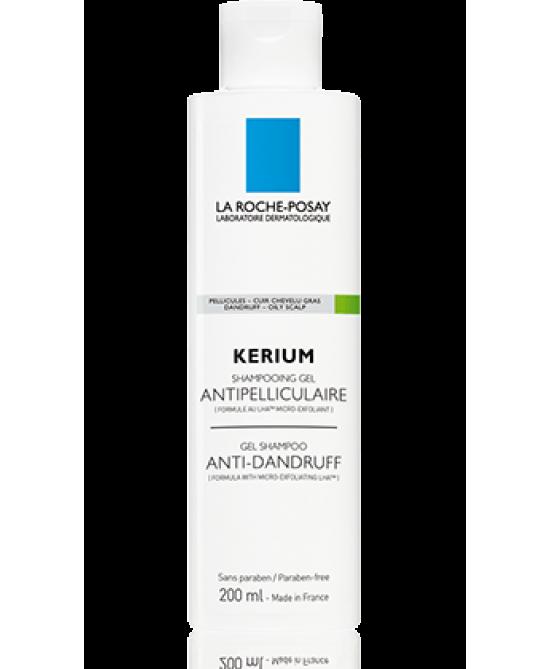 La Roche-Posay Kerium Shampoo-Gel Anti-Forfora Cute Grassa 200ml - La farmacia digitale