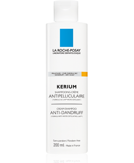 La Roche-Posay Kerium Shampoo Antiforfora Secca 200ml - Farmafamily.it