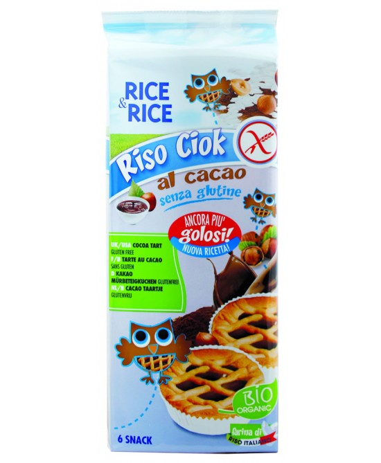 Rice&Rice Riso Ciok Al Cacao Biologico 6x33g - FARMAEMPORIO