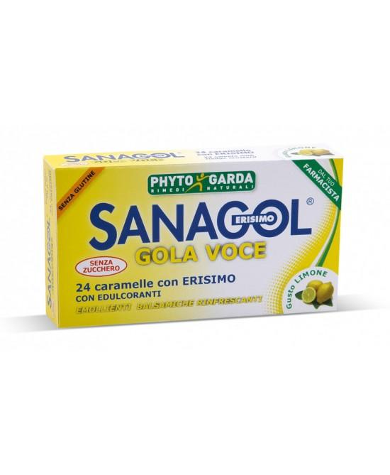 Phyto Garda Sanagol Gola Voce Senza Zucchero Limone  24 Caramele - Farmafamily.it